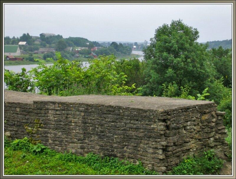 Фрагмент крепостной стены, Старая Ладога