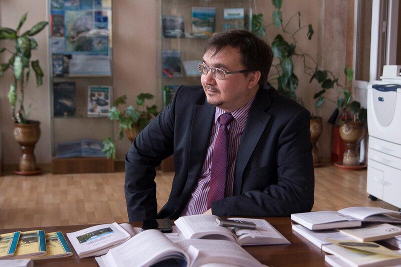 Александр Колотов на открытой дискуссии в Международный день действий в защиту рек, воды и жизни в Красноярске (фото Ирины Якуниной)