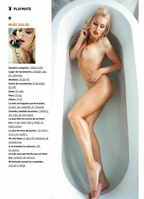 Denise Cotte in Playboy Mexico july 2015