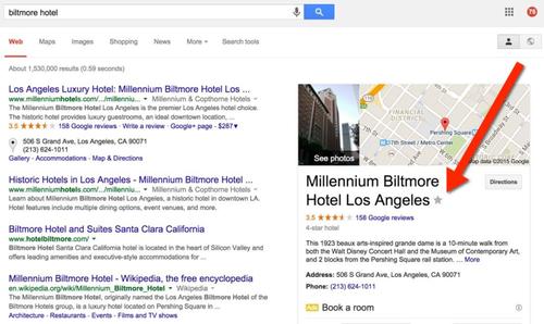 Google позволяет делать закладки на карте из результатов поиска