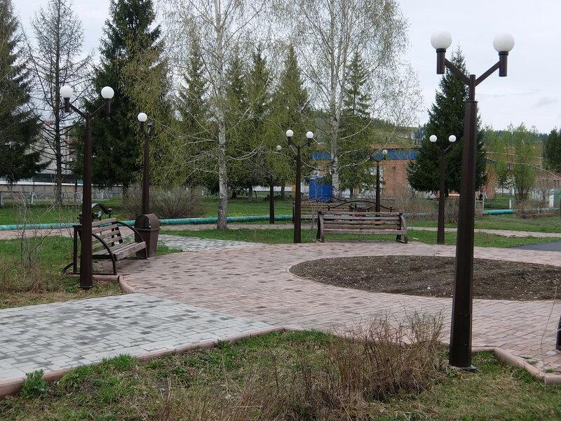 Таштагол - Сквер в районе Поспелова