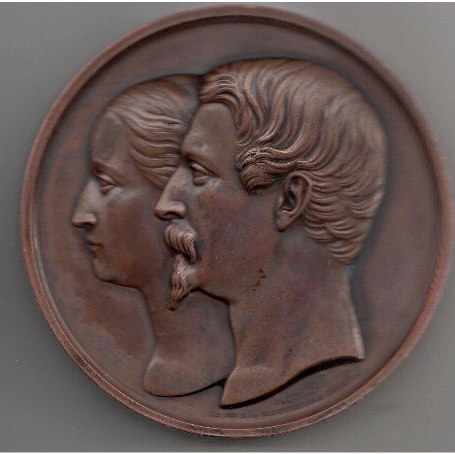 21. Памятная медаль в честь бракосочетания Наполеона III и Евгении де Монтихо