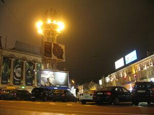 Вечерняя площадь Льва Толстого