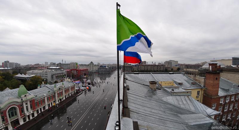 флаг новосибирской области