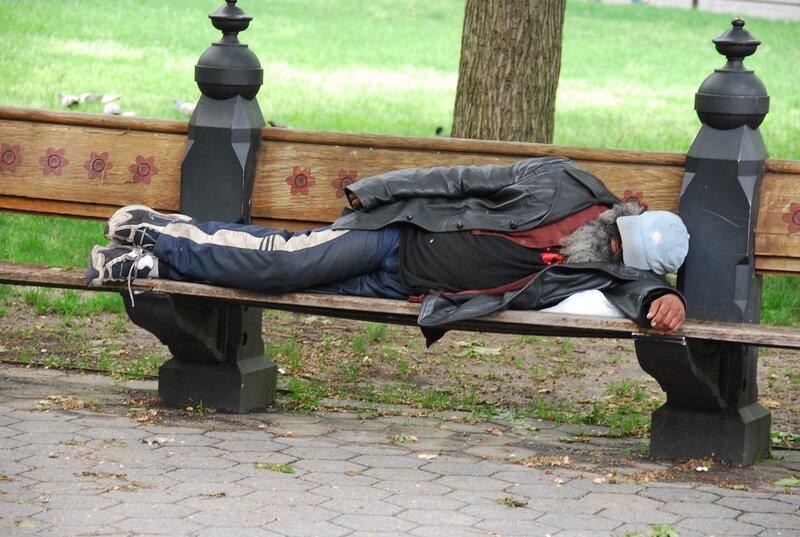 Бездомный в Нью Йорке