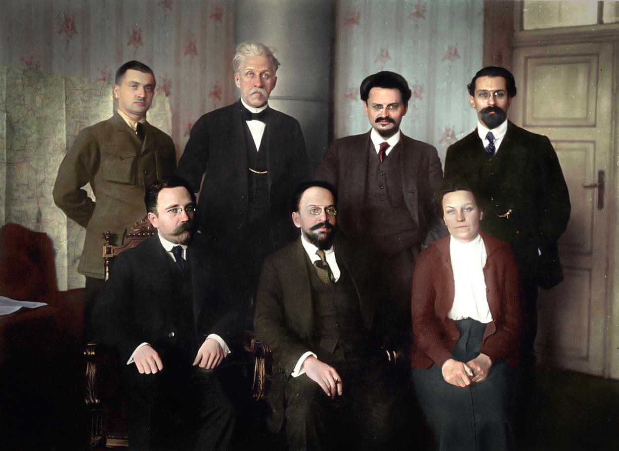 Soviet delegation at Brest-Litovsk, 15.01.1918