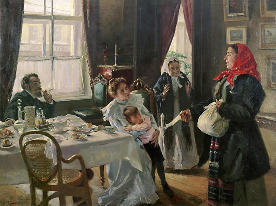 Мать приемная и родная. 1905-1906 Самарский областной художественный музей.