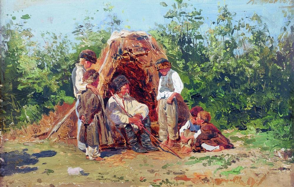 Рассказы деда. 1881  Государственный музей изобразительных искусств Республики Татарстан, Казань.