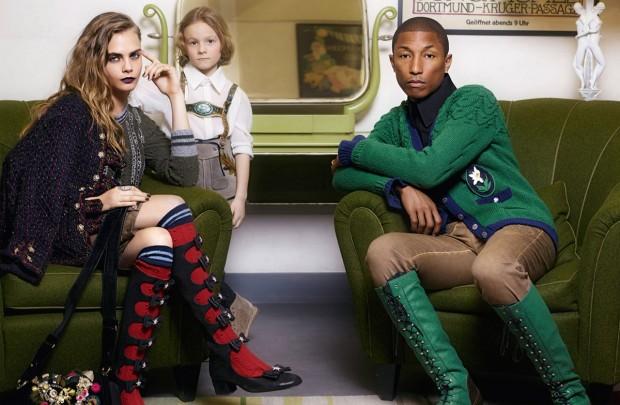 Кара Делевинь (Cara Delevingne) в рекламной фотосессии для Chanel (5 фото)