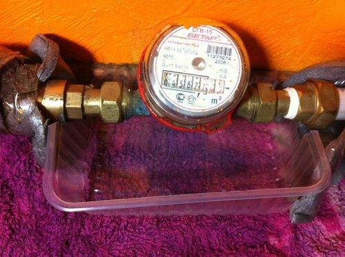 Соорудил чеплашку для водосборки