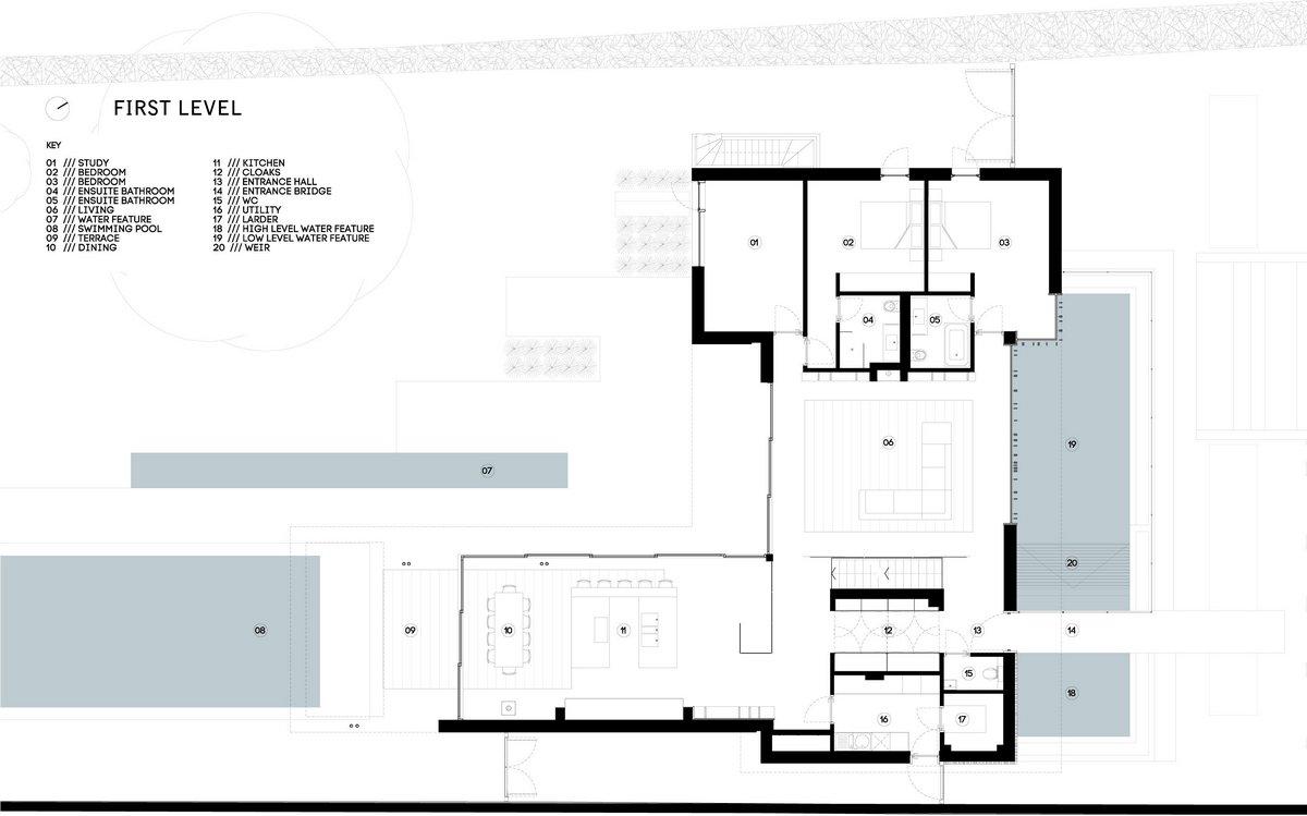River House, план дома, схема дома, Selencky Parsons, частный дом в Англии, элитная недвижимость Англия, элитная недвижимость Оксфорд, ландшафтный дизайн