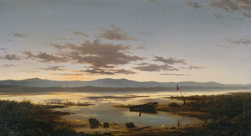 "John Gibb, ""Shades Of Evening, The Estuary"" (1880)"