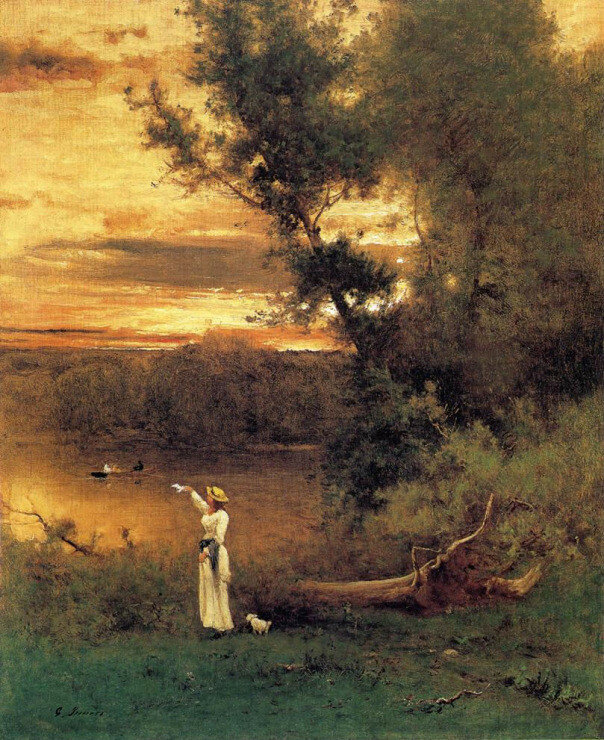George Inness - 1877 , Shades of Evening.