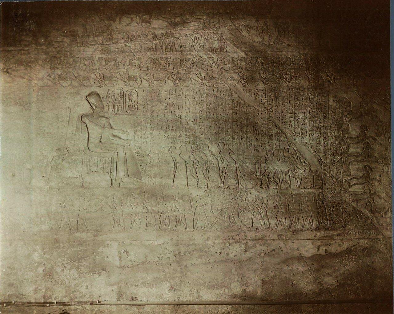 Храм Себека и Гора. Рельеф. 1890-е