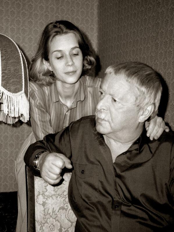 Юрий Левитанский с женой.