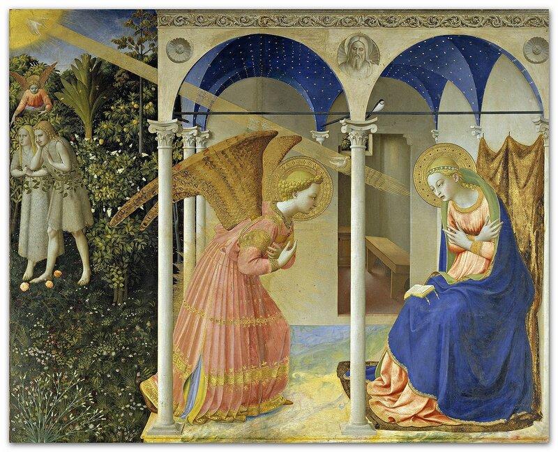 Фра Беато Анджелико. Благовещение. Фрагмент алтарного образа, ок. 1426.