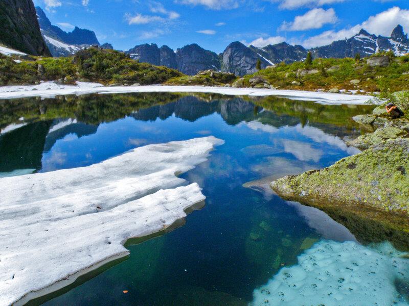 Льды на озере Горных Духов