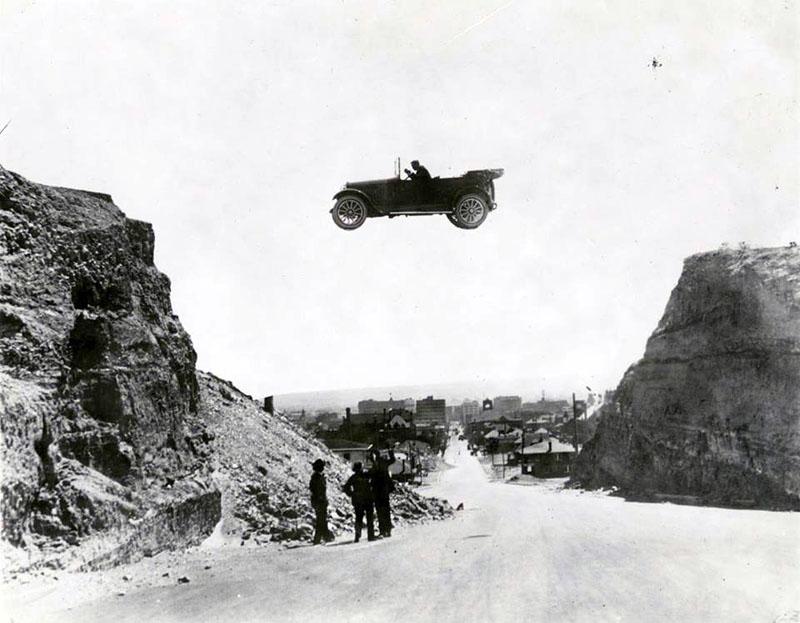 1922. Прыжок на автомобиле. Эль Пасо (Техас).jpg