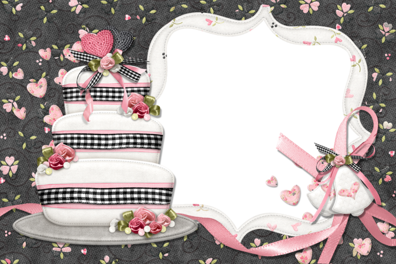 Открытка на торте в фотошопе