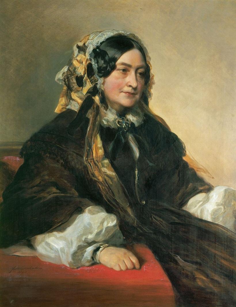 Виктория, герцогиня Кента (1786-1861)  Подпись и дата 1 861