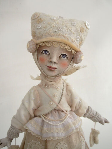 Snowflake Girl – art doll by Anna Zueva