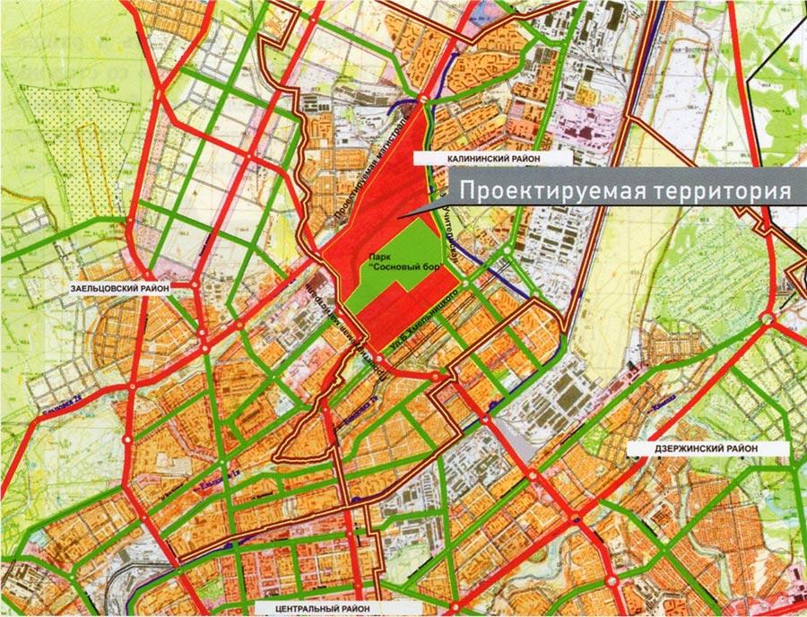 по Генплану Новосибирска
