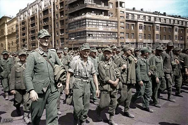 Пленные немцы в Москве.17 июля 1944 г.