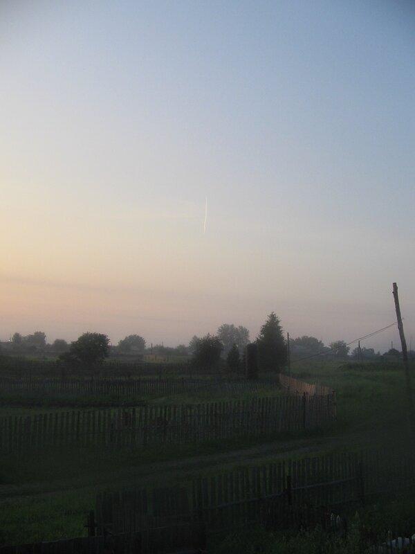 Июньский восход в селе Быньги