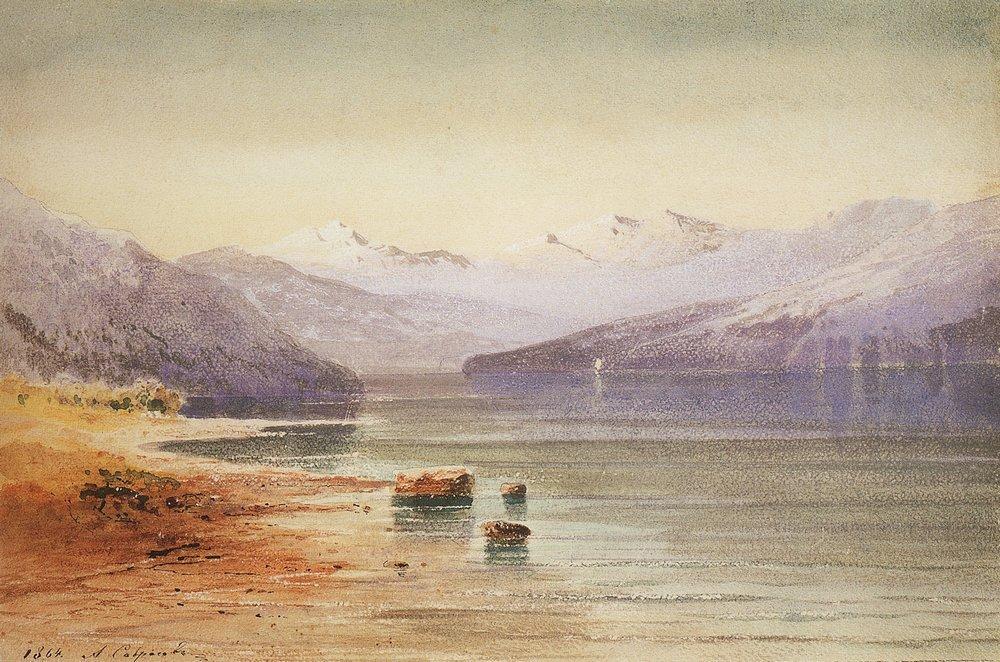 Горное озеро. Швейцария. 1864.jpg