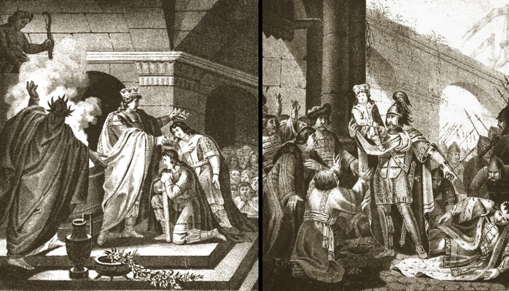 Жертвоприношение Рюрика (862 г.), Олег перед Киевом (882 г.)