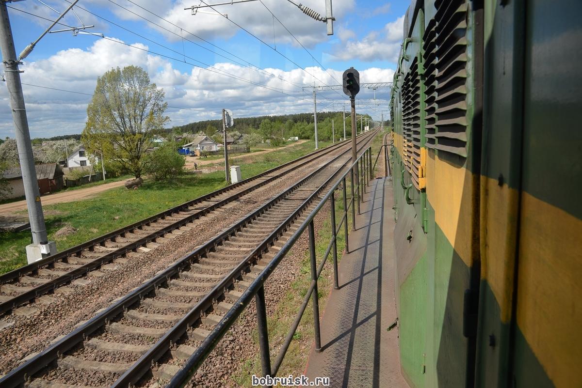 Железнодорожные пути в районе Киселевич