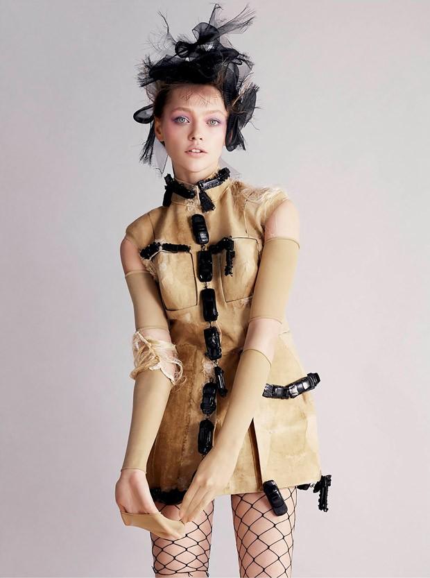 Саша Пивоварова (Sasha Pivovarova) в журнале V Magazine (7 фото)