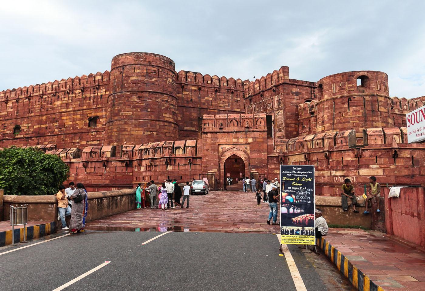 Фото 4. Экскурсии по Золотому треугольнику Индии. Красный форт Агры