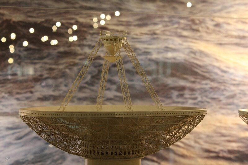 Одна из 2-х антенн диаметром 25 метров научно-исследовательского судна «Космонавт Юрий Гагарин»