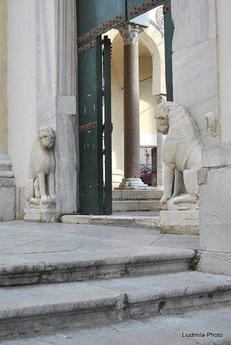 Лев и львица перед кафедральным собором