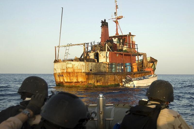 захват пиратского судна