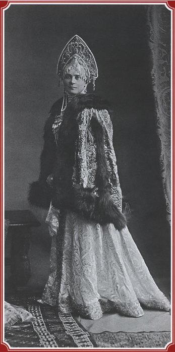 Княгиня Зинаида Николаевна Юсупова в  костюме боярыни.