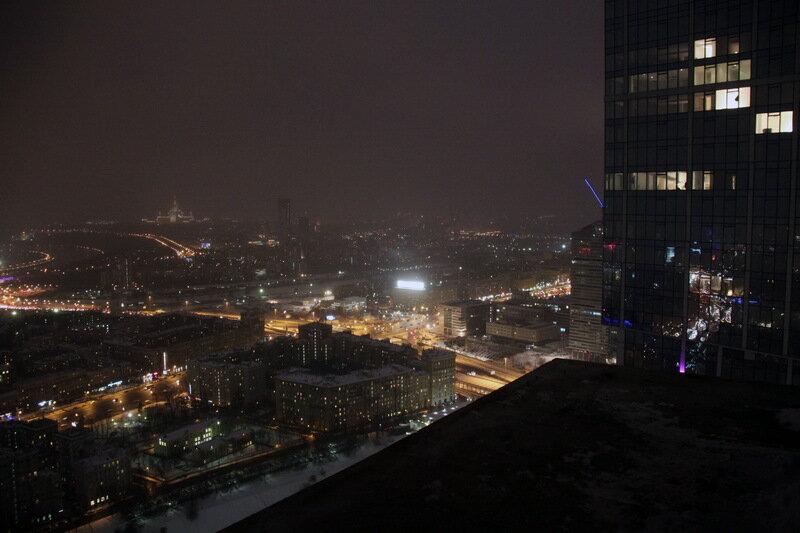 фото ночной москвы с крыши дома
