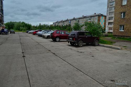Фото города Инта №7995  Двор Мира 44; Мира 56, 48 и 46 02.07.2015_16:41