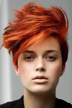 Стрижка креативная с короткими волосами