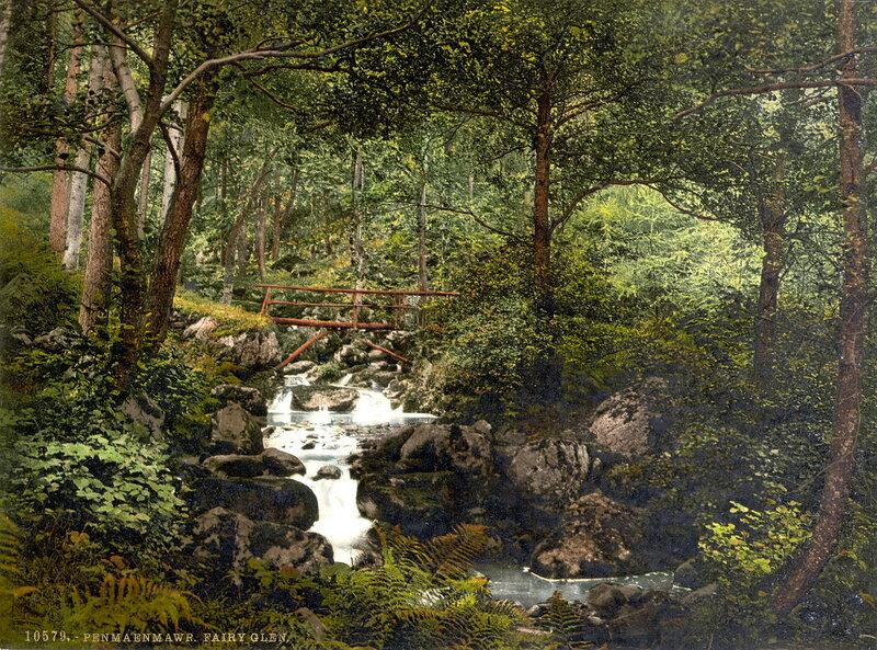 23. Пенмайнмаур, река Фэйри Глен, водопады
