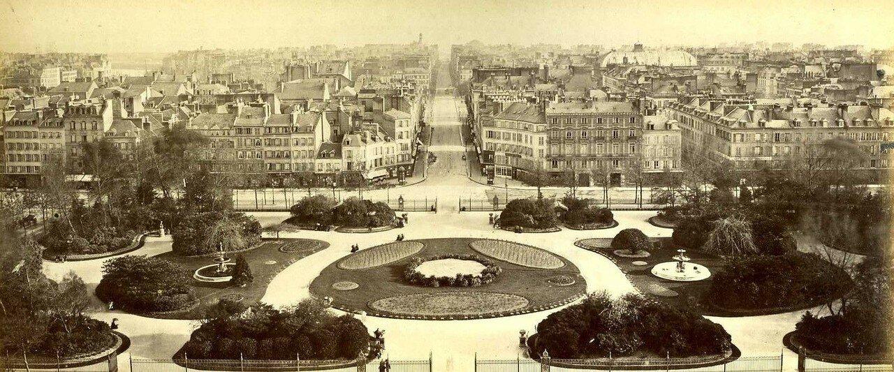 1880-е. Гавр. Сад возле мэрии