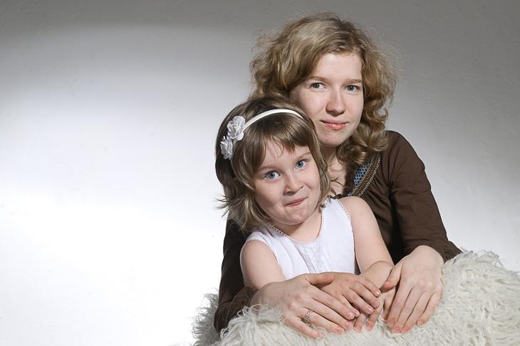 студийные фотографии для семейного альбома фотографа Кузьмин