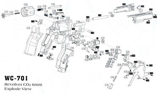 Взрыв-схема револьвера.