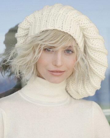 вязание шапок и беретов спицами.