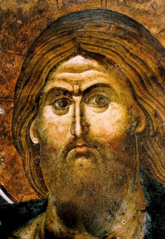 Лик Спасителя. Фреска монастыря Грачаница, Косово, Сербия. Около 1320 года.