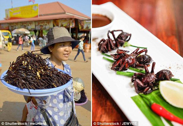 В продаже на любом рынке Камбоджи. В Юго-Восточной Азии, похоже, жарят и едят все, что ползает, лета