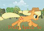 Пони Аппл Джек помогите добижать до яблок