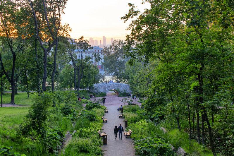 парк Музеон, парк Горького, Нескучный сад