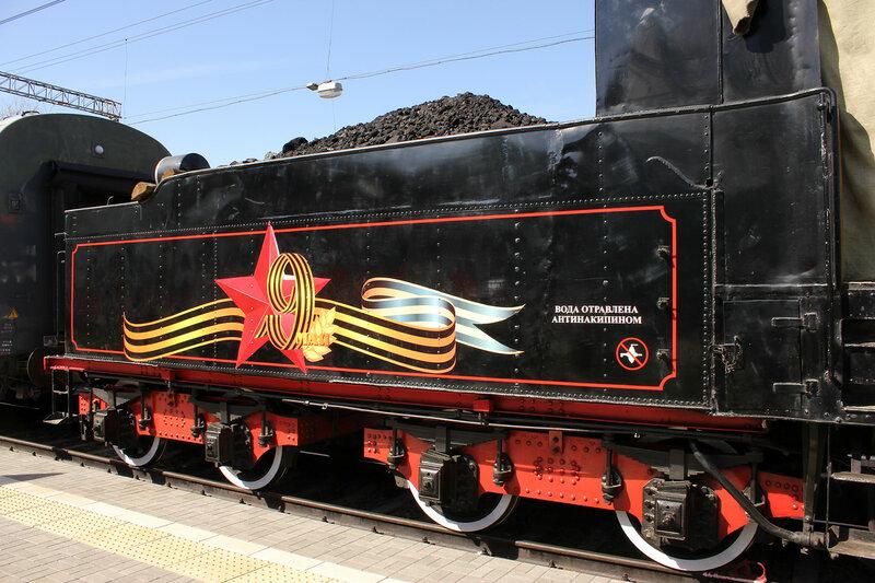 Паровоз ЭУ683-89 на Рижском вокзале